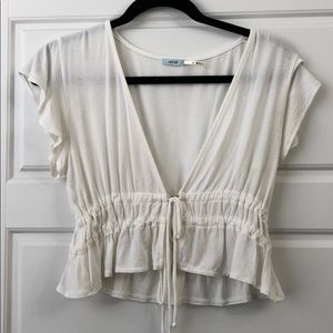 Urban outfitters frilly crop top